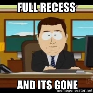 south park aand it's gone - full recess  and its gone