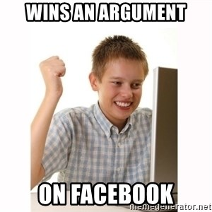 Computer kid - WINS AN ARGUMENT ON FACEBOOK