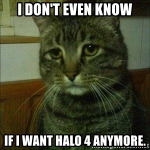 Depressed cat 2 - I don't even know If I want Halo 4 anymore.