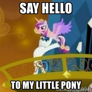 Shining Armor throwing Cadence - SAY HELLO to my little pony