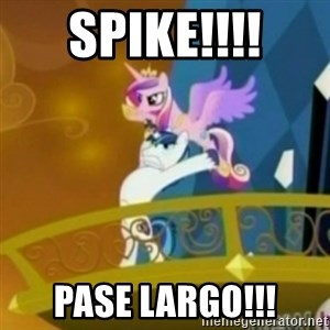 Shining Armor throwing Cadence - spike!!!! pase largo!!!