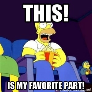 Homer Simpson Popcorn - This!  is my favorite part!