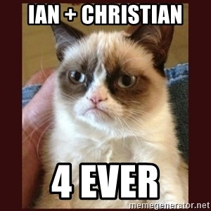 Tard the Grumpy Cat - ian + christian 4 ever