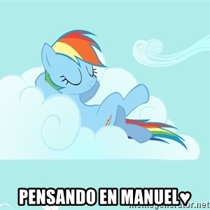 Rainbow Dash Cloud - pensando en manuel♥