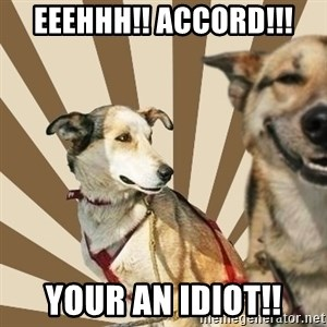 Stoner dogs concerned friend - EEEHHH!! ACCORD!!! YOUR AN IDIOT!!