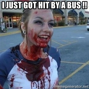 Scary Nympho - I JUST GOT HIT BY A BUS !!