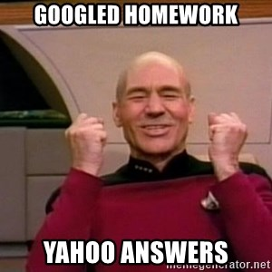 Jean Luc Picard Full of Win - No Text - GOOGLED HOMEWORK YAHOO ANSWERS