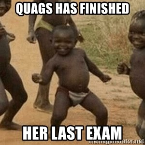 Success African Kid - Quags has finished Her last exam