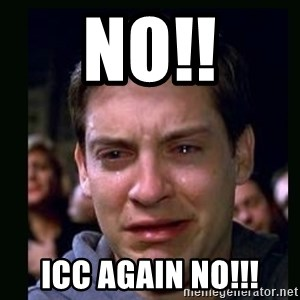 crying peter parker - no!! icc again no!!!