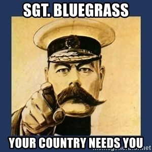 your country needs you - SGT. BlueGrass your country needs you