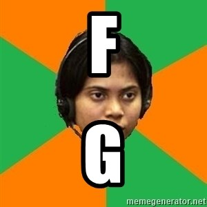 Stereotypical Indian Telemarketer - F G
