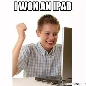 Computer kid - I won an ipad
