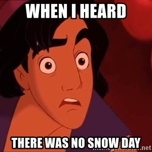 Horrified Aladdin - When I heard there was no snow day