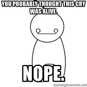Cryaotic - you probably thought this cry was alive. nope.