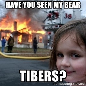 Disaster Girl - Have you seen my bear tibers?