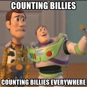 X, X Everywhere  - counting billies counting billies everywhere