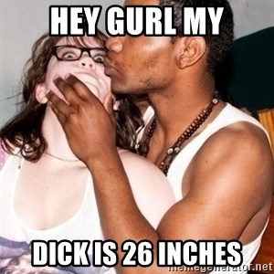 Scared White Girl - hey gurl my dick is 26 inches
