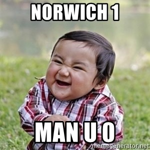 evil toddler kid2 - norwich 1 man u 0