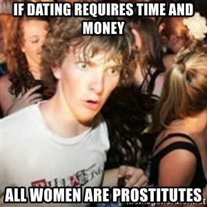 sudden realization guy - if dating requires time and money all women are prostitutes