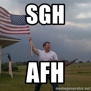 american flag shotgun guy - sgh afh
