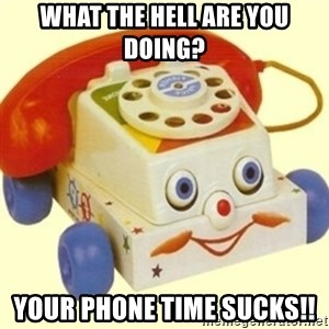 Sinister Phone - what the hell are you doing? Your phone time sucks!!