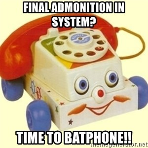 Sinister Phone - Final admonition in system? Time to batphone!!