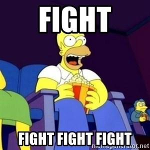 Homer Simpson Popcorn - Fight Fight Fight Fight