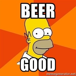 Homer Advice - BEER GOOD