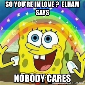 Spongebob - Nobody Cares! - So you're In Love ?  Elham Says Nobody cares
