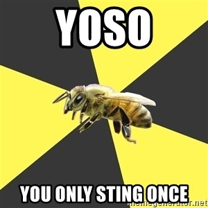 British High School Honeybee - YOSO YOU ONLY STING ONCE