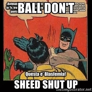 Batman Slap Robin Blasphemy - Ball don't Sheed shut up