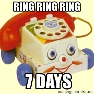 Sinister Phone - ring ring ring  7 days