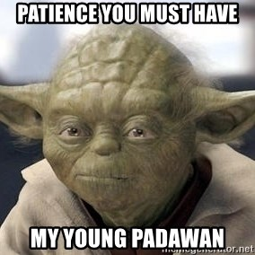 Master Yoda - patience you must have my young padawan