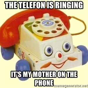 Sinister Phone - the telefon is ringing it's my mother on the phone