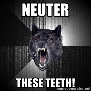 Insanity Wolf - neuter these teeth!