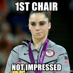 Not Impressed McKayla - 1st chair not impressed