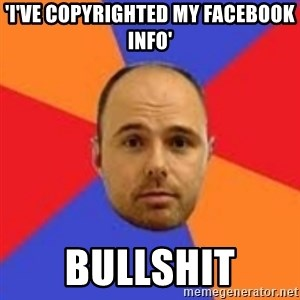 Karl Pilkington - 'i've copyrighted my Facebook info' Bullshit