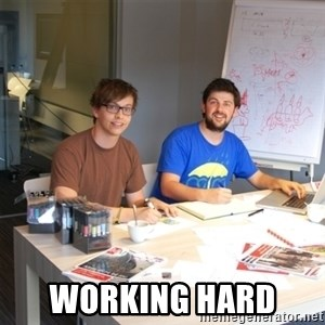 Naive Junior Creatives - Working hard