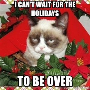 Grumpy Christmas Cat - I can't wait for the holidays to be over