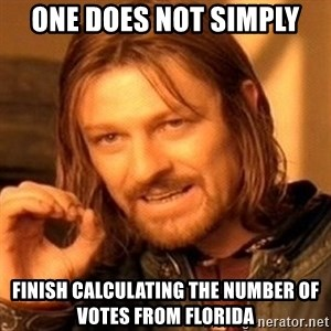 One Does Not Simply - one does not simply finish calculating the number of votes from florida