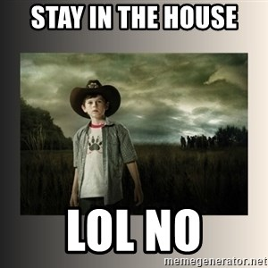 The Walking Dead - stay in the house lol no