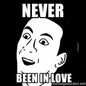 you don't say meme - NEVER  been in lovE