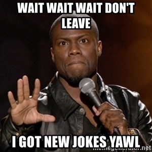 Kevin Hart - wait wait wait don't leave i got new jokes yawl