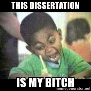 Black kid coloring - this dissertation is my bitch