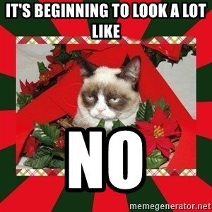 GRUMPY CAT ON CHRISTMAS - It's beginning to look a lot like no