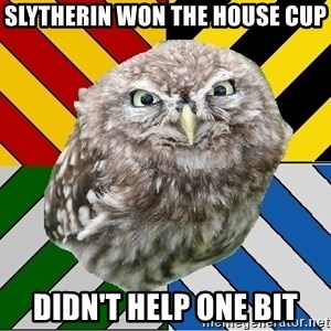 JEALOUS POTTEROMAN - Slytherin won the house cup Didn't help one bit