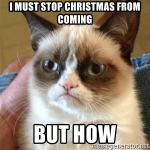 Grumpy Cat  - i must stop christmas from coming but how