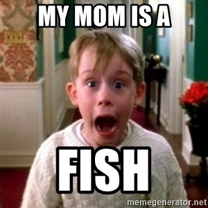 home alone - my mom is a fish