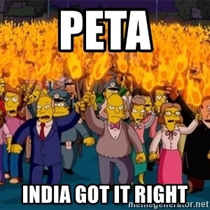 simpsons anger mob - PETa India got it right