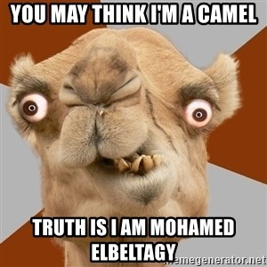 Crazy Camel lol - YOU MAY THINK I'M A CAMEL TRUTH IS I AM MOHAMED ELBELTAGY